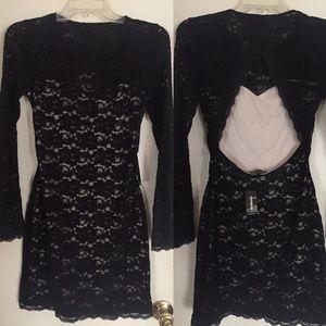 Express Black Lace Sheath Dress